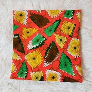 Bright Orange Vintage Look Pillow Cover, Accents